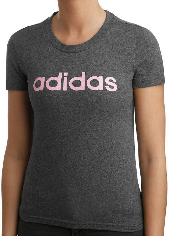 Adidas T shirt Adidas 500 voor gym en stretching slim fit zwart